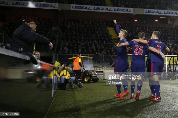 Matthijs de Ligt of Ajax Nick Viergever of Ajax Lasse Schone of Ajax Joel Veltman of Ajax during the Dutch Eredivisie match between NAC Breda and...