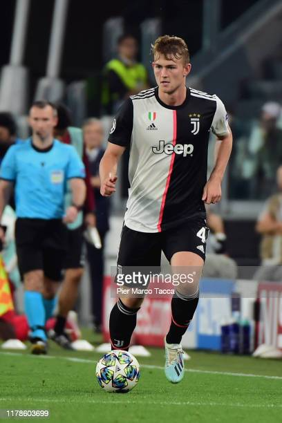 Matthijs de Ligt of FC Juventus in action during the UEFA Champions League group D match between Juventus and Bayer Leverkusen at Juventus Arena on...