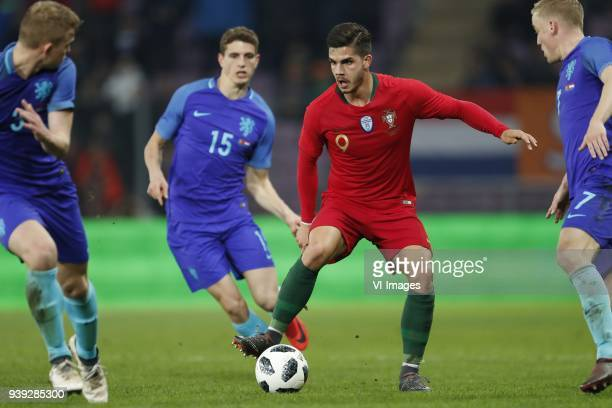 Matthijs de Ligt of Holland Guus Til of Holland Andre Silva of Portugal Donny van de Beek of Holland during the International friendly match match...