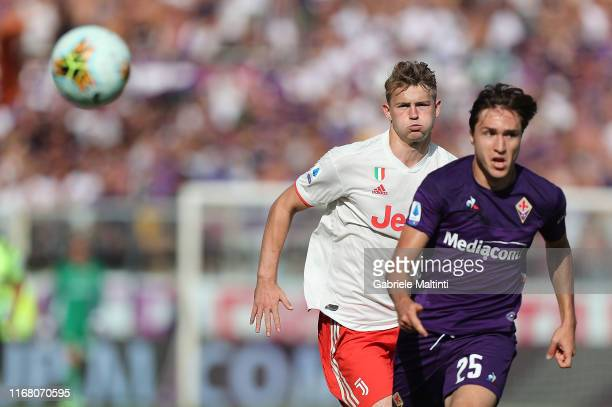 Matthijs De Ligt of Juventus FC in action during the Serie A match between ACF Fiorentina and Juventus at Stadio Artemio Franchi on September 14 2019...