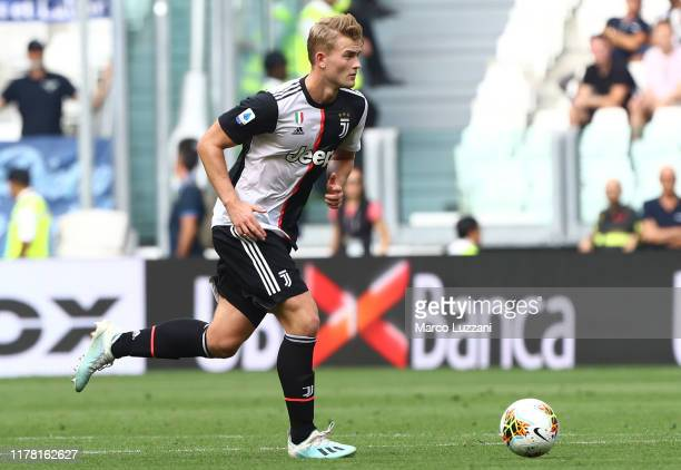 Matthijs de Ligt of Juventus FC in action the Serie A match between Juventus and SPAL at Allianz Stadium on September 29, 2019 in Turin, Italy.