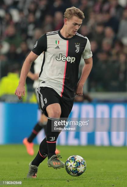 Matthijs de Ligt of Juventus in action during the UEFA Champions League group D match between Juventus and Atletico Madrid at Allianz Stadium on...
