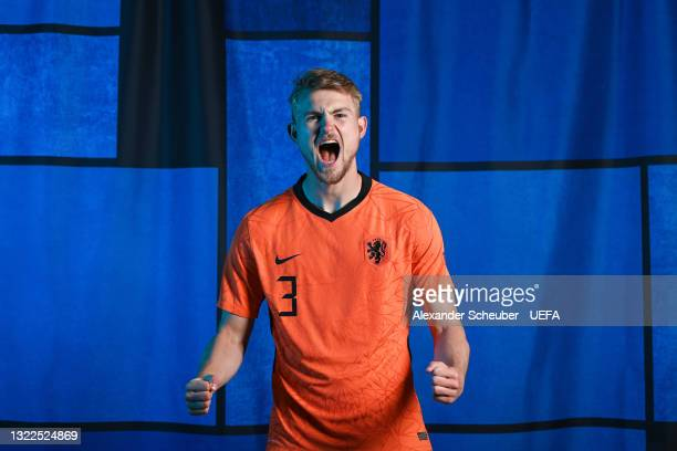 Matthijs de Ligt of the Netherlands poses during the official UEFA Euro 2020 media access day on June 07, 2021 in Zeist, Netherlands.