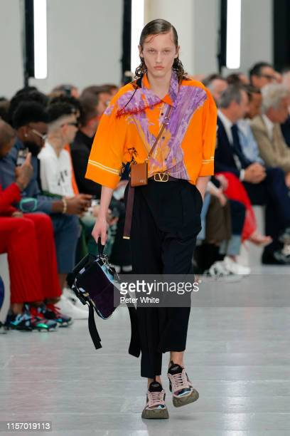 Matthijs Pol walks the runway during the Valentino Menswear Spring Summer 2020 show as part of Paris Fashion Week on June 19, 2019 in Paris, France.