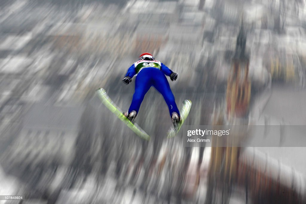 Matti Hautamaeki of Finland competes during the qualification round for the FIS Ski Jumping World Cup event of the 59th Four Hills ski jumping tournament at Bergisel on January 2, 2011 in Innsbruck, Austria.