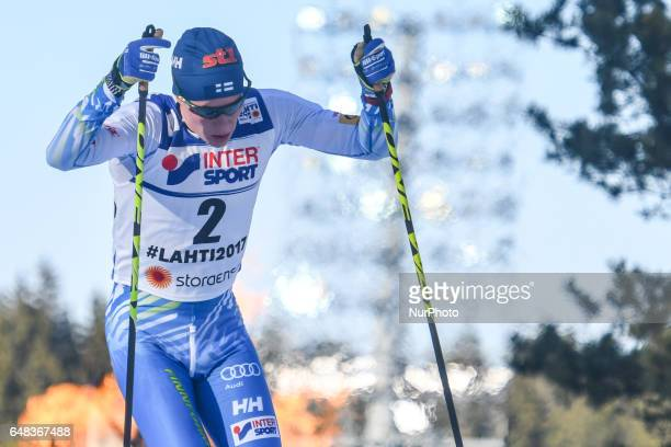 Matti Heikkinen from Finland during Men crosscountry 50 km Mass Start Free final at FIS Nordic World Ski Championship 2017 in Lahti On Sunday March...