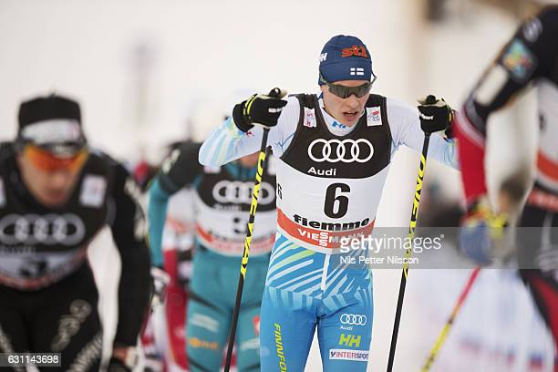 Matti Heikkinen of Finland competes during the men's 15 km C Mass Start on January 7 2017 in Val di Fiemme Italy