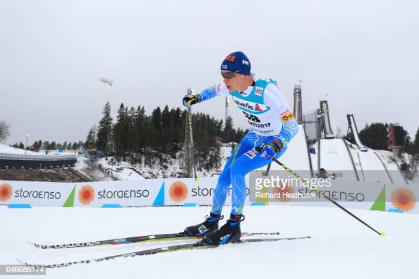 Matti Heikkinen of Finland competes in the Men's 15KM Cross Country during the FIS Nordic World Ski Championships on March 1 2017 in Lahti Finland