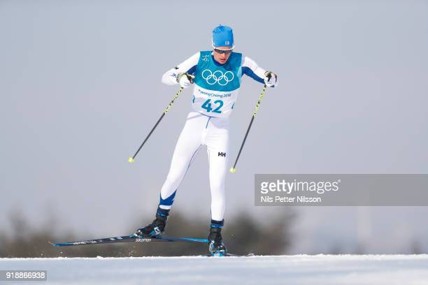 Matti Heikkinen of Finland during the mens Cross Country 15k free technique at Alpensia CrossCountry Centre on February 16 2018 in Pyeongchanggun...
