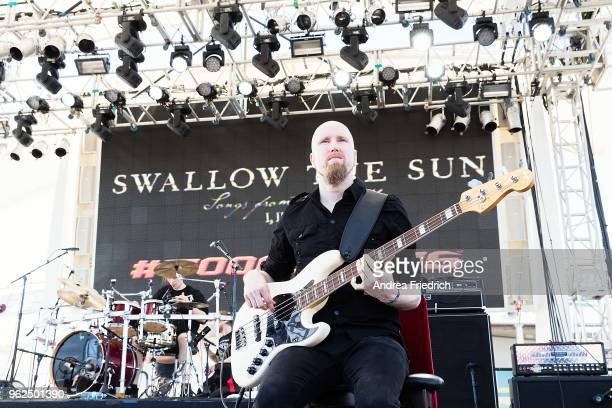 Matti Honkonen of Swallow The Sun performs onboard the cruise liner 'Independence of the Seas' during the '70000 Tons of Metal' Heavy Metal Cruise...