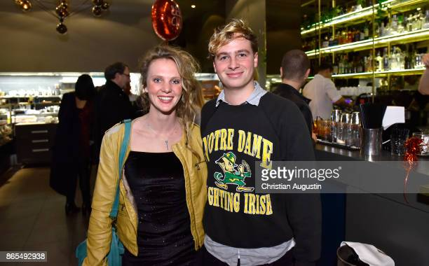Matti SchmidtSchaller and Clara Brauer attend farewell party of Hannelore Hoger as BELLA BLOCK at restaurant Tarantella on October 13 2017 in Hamburg...