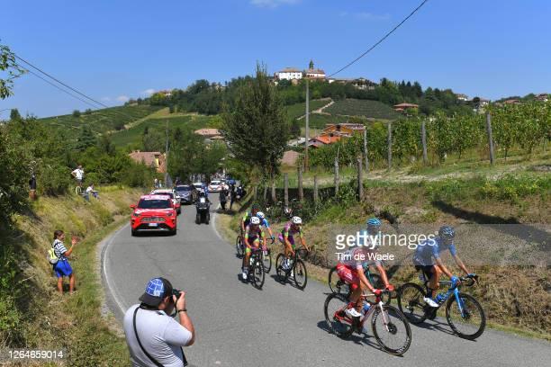 Mattia Bais of Italy and Team Androni Giocattoli - Sidermec / Hector Carretero of Spain and Movistar Team / Manuele Boaro of Italy and Astana Pro...