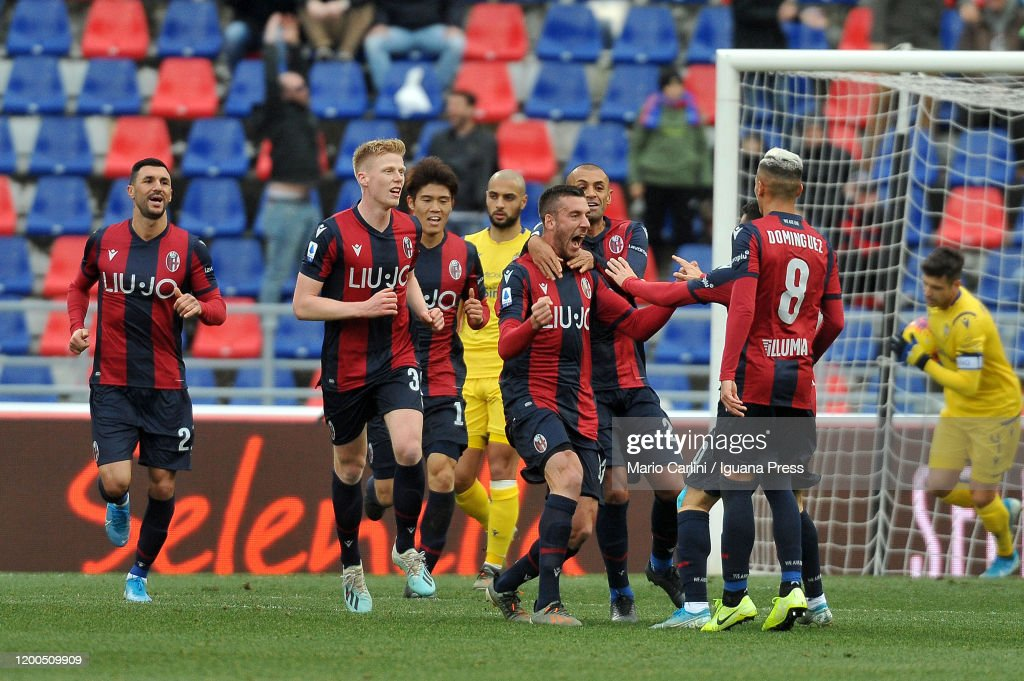 Mattia Bani Of Bologna Fc Celebrates After Scoring The Opening Goal News Photo Getty Images