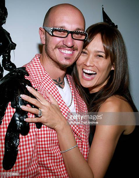 Mattia Biagi and Tia Carrere during 'The House in Tar' Los Angeles Opening Reception at Twentieth in Los Angeles California United States