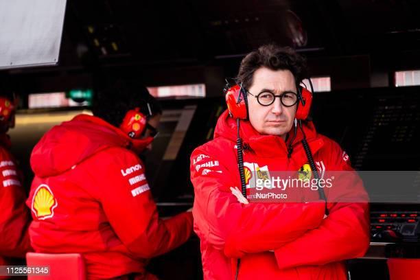 Mattia Binotto Team Chief Scuderia Ferrari Mission Winnow SF90 portrait during the Formula 1 2019 PreSeason Tests at Circuit de Barcelona Catalunya...