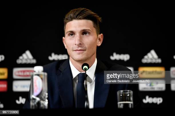 Mattia Caldara during a Juventus Press Conference at Juventus Training Center on July 13 2018 in Turin Italy