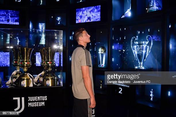 Mattia Caldara during a Juventus Press Conference at Juventus Museum on July 13 2018 in Turin Italy