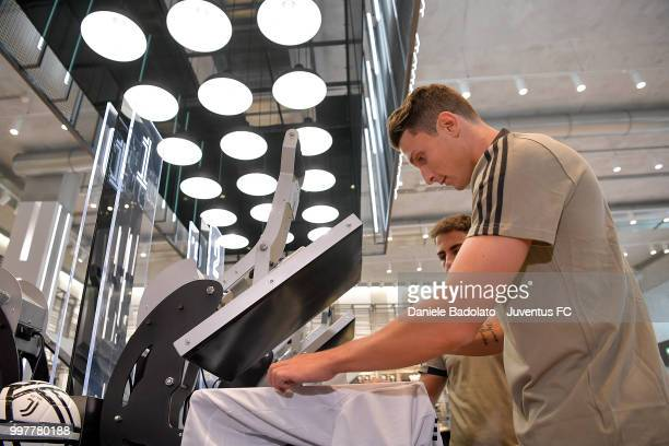 Mattia Caldara during a Juventus Press Conference at Juventus Store on July 13 2018 in Turin Italy