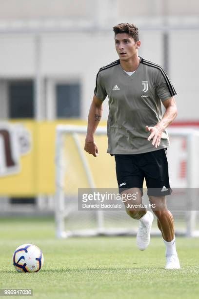 Mattia Caldara during a Juventus training session at Juventus Training Center on July 12 2018 in Turin Italy