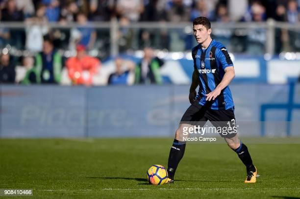 Mattia Caldara of Atalanta BC in action during the Serie A football match between Atalanta BC and SSC Napoli SSC Napoli won 10 over Atalanta BC