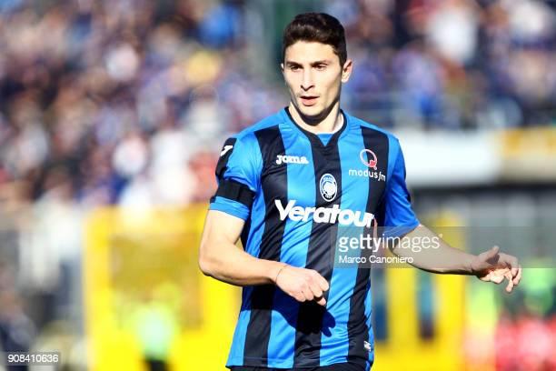Mattia Caldara of Atalanta Bergamasca Calcio during the Serie A match between Atalanta Bergamasca Calcio and SSC Napoli Ssc Napoli wins 10 over...
