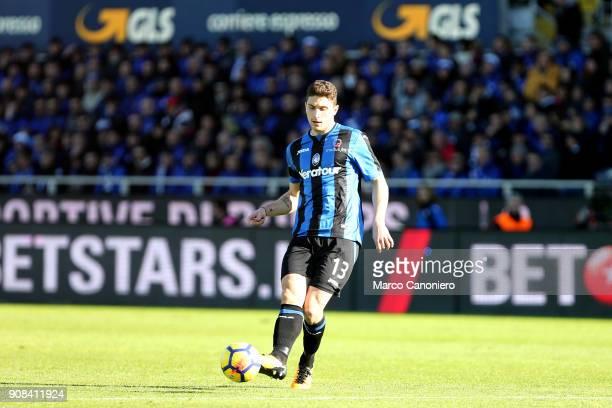 Mattia Caldara of Atalanta Bergamasca Calcio in action during the Serie A match between Atalanta Bergamasca Calcio and SSC Napoli Ssc Napoli wins 10...