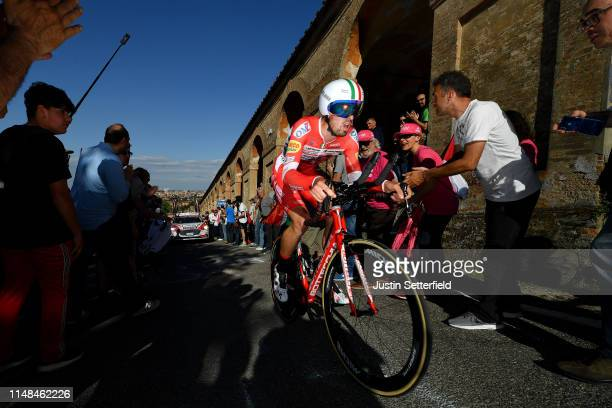 Mattia Cattaneo of Italy and Team Androni Giocattoli Sidermec / during the 102nd Giro d'Italia 2019 Stage 1 a 8km Individual Time Trial from Bologna...