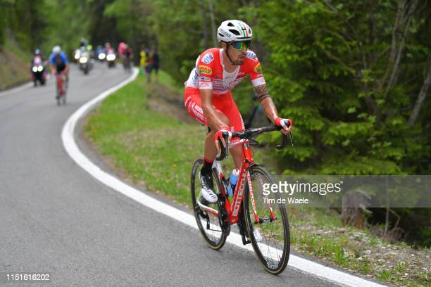 Mattia Cattaneo of Italy and Team Androni Giocattoli Sidermec / during the 102nd Giro d'Italia 2019 Stage 14 a 131km stage from Saint Vincent to...