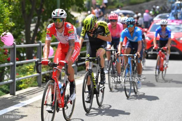 Mattia Cattaneo of Italy and Team Androni Giocattoli Sidermec / Lucas Hamilton of Australia and Team Mitchelton Scott / during the 102nd Giro...
