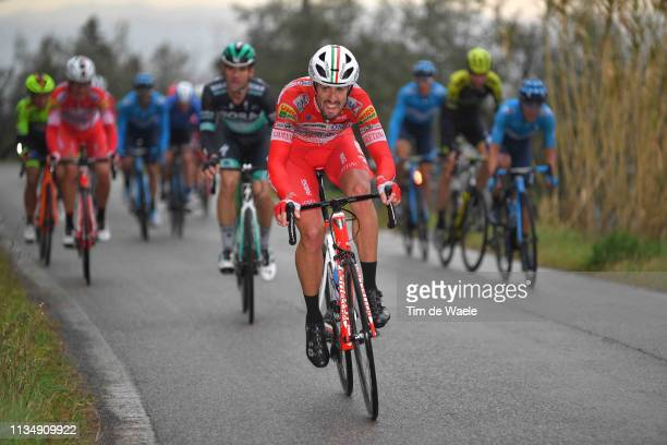 Mattia Cattaneo of Italy and Team Androni Giocattoli - Sidermec / Maximilian Schachmann of Germany and Team Bora-Hansgrohe / during the 42nd GP...