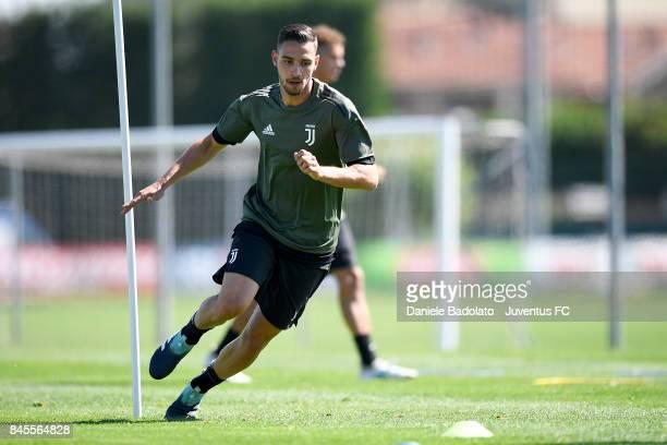 Mattia De Sciglio during a Juventus training session at Juventus Center Vinovo on September 11 2017 in Vinovo Italy