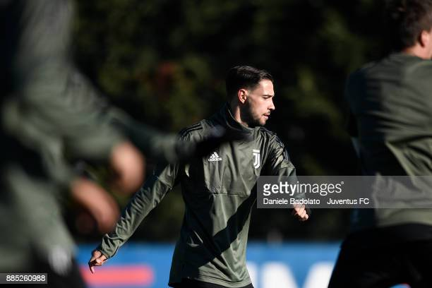 Mattia De Sciglio during a Juventus Training Session at Juventus Center Vinovo on December 4 2017 in Vinovo Italy