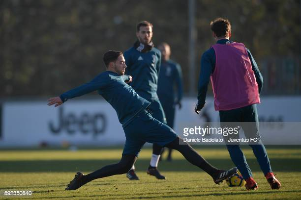 Mattia De Sciglio during a Juventus Training Session at Juventus Center Vinovo on December 14 2017 in Vinovo Italy