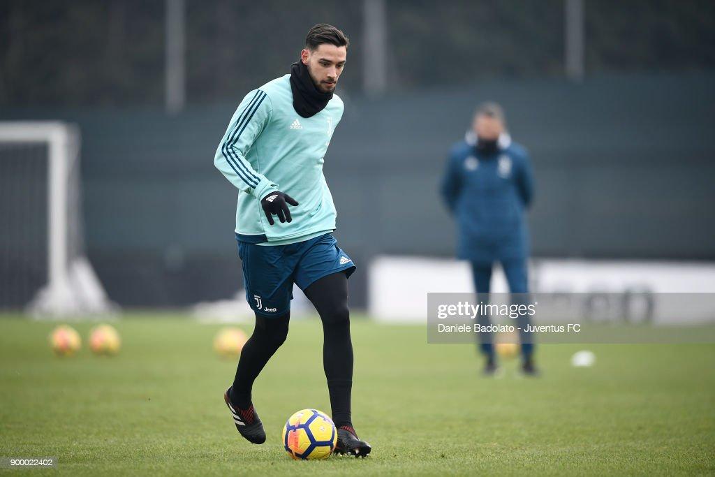 Mattia De Sciglio during a Juventus Training Session at Juventus Center Vinovo on December 31, 2017 in Vinovo, Italy.