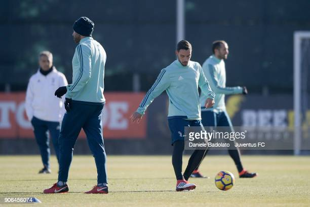 Mattia De Sciglio during a Juventus Training Session at Juventus Center Vinovo on January 18 2018 in Vinovo Italy