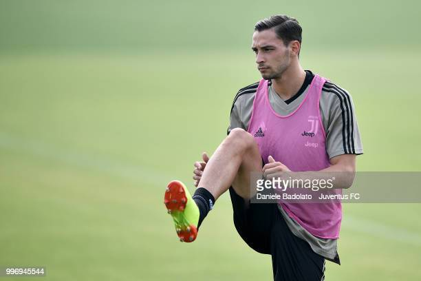 Mattia De Sciglio during a Juventus training session at Juventus Training Center on July 12 2018 in Turin Italy