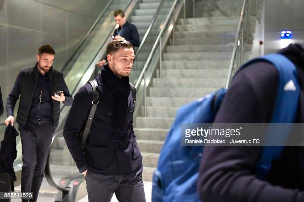 Mattia De Sciglio during a Juventus Travel to Athens ahead of the UEFA chanpions League match versus Olimpiacos at on December 4 2017 in Athens Greece