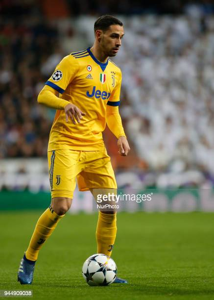 Mattia De Sciglio during Champions League match between Real Madrid v Juventus in Madrid on April 11 2018