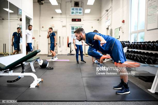 Mattia De Sciglio during the afternoon training session on July 24 2017 in Boston City
