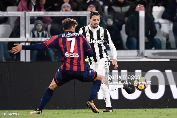 Mattia De Sciglio during the Serie A match between Juventus and FC Crotone at Allianz Stadium on November 26 2017 in Turin Italy