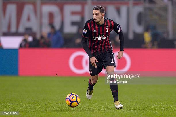 Mattia De Sciglio of AC Milan in action during the Serie A football match between AC Milan and FC Internazionale
