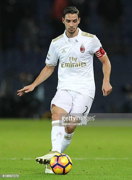 Mattia De Sciglio of AC Milan in action during the Serie A match between Genoa CFC and AC Milan at Stadio Luigi Ferraris on October 25 2016 in Genoa...