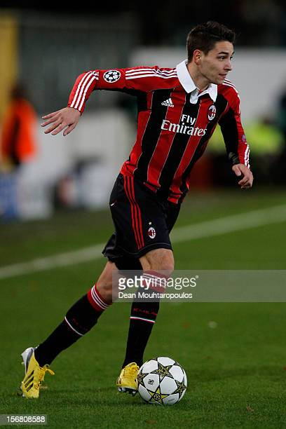Mattia De Sciglio of AC Milan in action during the UEFA Champions League Group C match between RSC Anderlecht and AC Milan at the Constant Vanden...