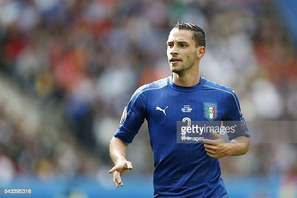 Mattia De Sciglio of Italy during the UEFA Euro 2016 round of 16 match between Italy and Spain on June 27 2016 at the Stade de France in Paris France