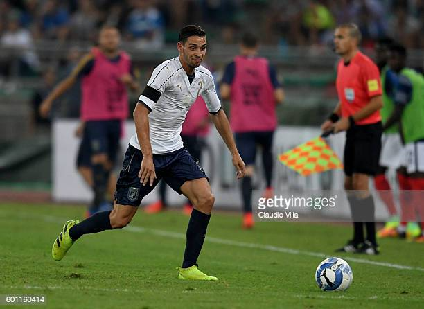 Mattia De Sciglio of Italy in action during the international friendly match between Italy and France at Stadio San Nicola on September 1 2016 in...