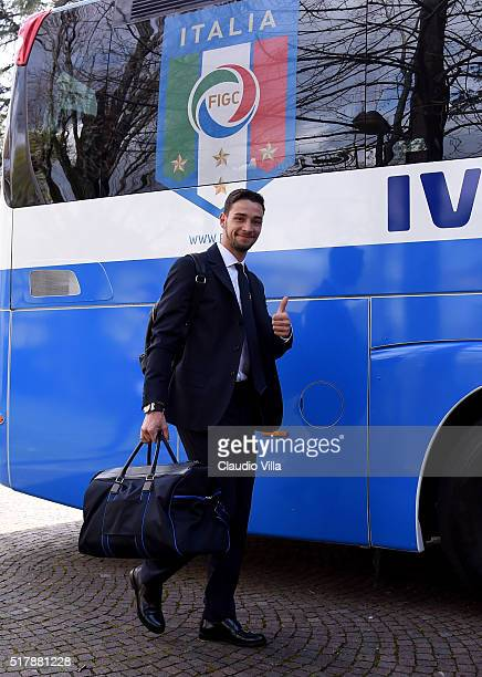 Mattia De Sciglio of Italy leaves to Munich on March 28 2016 in Florence Italy