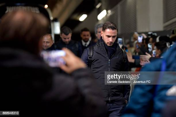 Mattia De Sciglio of Juventus arrives at Allianz Stadium before the Serie A match between Juventus and FC Internazionale on December 9 2017 in Turin...