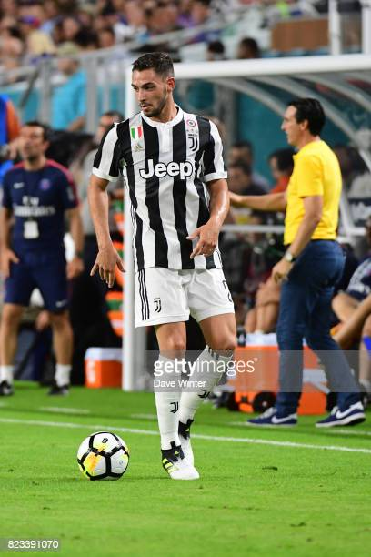 Mattia De Sciglio of Juventus during the International Champions Cup match between Paris Saint Germain and Juventus Turin at Hard Rock Stadium on...
