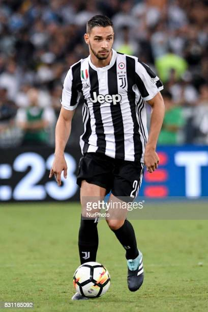 Mattia De Sciglio of Juventus during the Italian Supercup Final match between Juventus and Lazio at Stadio Olimpico Rome Italy on 13 August 2017