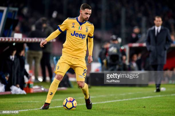 Mattia De Sciglio of Juventus during the Serie A match between Napoli and Juventus at San Paolo Stadium Naples Italy on 1 December 2017